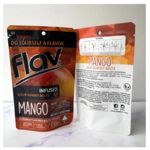 Nuovo Flav Aid Gummy Belts Borsa Packaging Mango Cinghie d'uva Cinture da imballaggio Borse a prova di odore Gummies Mylar fkuig