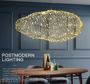 modern creative cloud light fixtures led pendant lamp starry personality hotel restaurant bar  firefly moderne lustre
