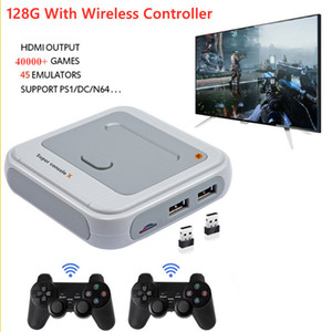 Super Console X 2.4G беспроводной игровой консолью 4K Retro Game Player Classic PS1 N64 30000 Games Поддержка AV HD WiFi TV Console Box W1219