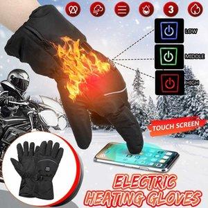 3 Seviye Kış USB El Isıtıcı Elektrikli Termal Isıtmalı Eldiven Su Geçirmez Pil Için Motosiklet Yarışı Kayak Gloves 201022