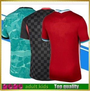 2020 2021 Adulto Kids SoccerJersey Home Vermelho Away Camisa Azul 20 21 Homens Futebol Uniformes Kit + Meias Camiseta de Fútbol Chandal Futbol