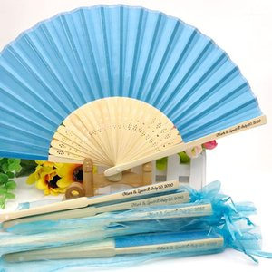 20PCS Personalized Luxurious Silk Fold Hand Fan in Elegant Laser-Cut Gift Box Party Favors Wedding Gifts Custom Printing1