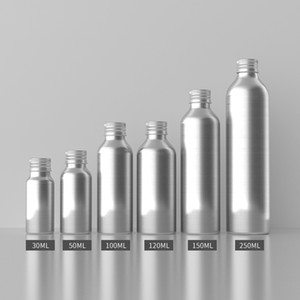 30pcs 30ML 50ML 100ml 150ML 250ML Empty Aluminum Bottles With Screw Cap Liquid Soap Metal Containers Essential Oil Bottle