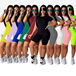 Womens Outfits Short Sleeve 2 Piece Set Tracksuit Jogging Sportsuit Shirt Shorts Outfits Sweatshirt Pants Sport Suit Hot Selling S-5XL