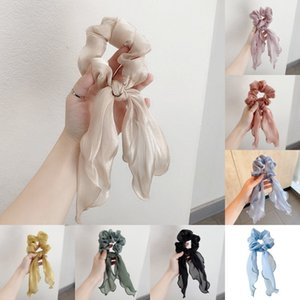 Grenadine Scrunchies Cheveux Bague Rubans Elastic Hair Band Groupes Pontail Porte-Viroles Soldy Girls Bands Hair Accessoires Yhm 354 G2