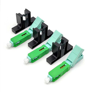 FTTH APC Single-Mode Fiber Optic SC APC Quick Fast Field Assembly Connector For Drop Cable