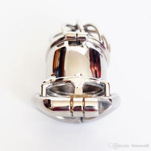 Lock Per uretrale Cintura di castità maschile dispositivo Steel Cage Pene Castità BDSM con Metal Sounding Acciaio doppio rubinetto Cage Jxuhf