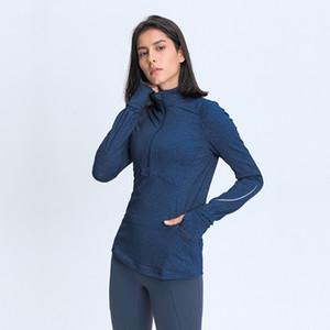 L-91 Maglie a manica lunga donne che gestiscono Sport Top signora Girl Fitness T shirt vestito molle eccellente Autunno dell'inverno Top con foro per il pollice per la formazione