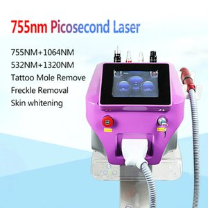High Quality Laser 755 1320 1064 532Nm Picosecond Laser Tattoo Removal Machine Face Care Tools Dhl Ups Free Shipping