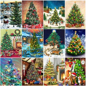 Painting Home Wall DIY Decor 5D Full Drill Diamond Embroidery Mosaic Christmas tree Scenery Decoration Gift