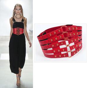 Ceinture Corset taille plus cinturon femmes mujer ceintures designer Cummerbund large ceinture de mode Shaper Punk Rivet élastique 2020 1012 ceinturé