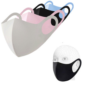 Reusable Ice Silk Cotton Face Mask Dustproof Washable Masks Face Cover 4 Colors for Kids and Adult