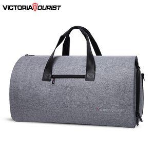 VictoriaTourist Bolsa de viaje Bolsa de vestir hombre mujer bolsa de equipaje paquete versátil paquete de viaje para viaje de negocios trabajo ocio lj201118