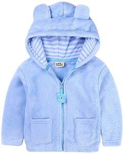 Kids Boys Winter Jacket Infant Baby Hooded Ear Winter Warm Outwear Hoodie Jacket Coat(0-24M)