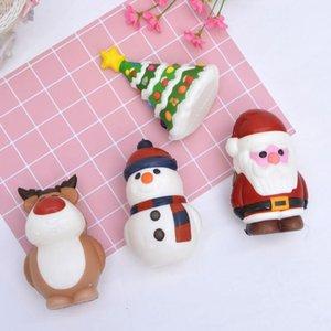 Рождественские душистые игрушки Санта-Клаус снеговик рождественские дерево в форме медленный поднимающий крем ароматизированные стресс сброс игрушка новинка подарок декор AHD2711