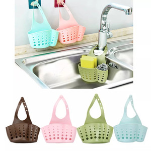 Kitchen Shelf Home Portable Hanging Drain Bag Adjustable Snap Bags Rack Basket Bath Storage Tools Soap Sink Holder Home Gadget YFALS2028