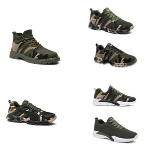 Без бренда Hotsale 2020 Дизайнерские Обувь Мужчины Женщины Беговые Обувь Камуфляжная Армия Зеленый Открытый Тренер Siez 36-44 Стиль 20
