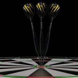 12pcs 20g Acciaio punta freccette Professional Darts Set alluminio stelo dell'ago freccette