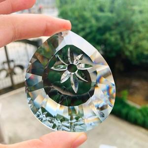 76 mm Cerrar Daisy Cristales Prismas Colgando SunCatcher Vidrio Drop Pendant Chandelier Adorno Cristal Chrismas Home Wedding Decor H Jllgra