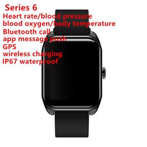 Serie GooPhone 6 IP67 a prueba de agua reloj inteligente 44mm inteligente MTK2503 GPS Presión arterial Frecuencia cardíaca reloj para iPhone Android reloj inteligente
