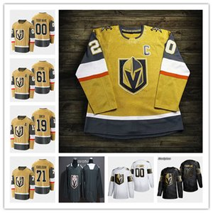 Custom Vegas Golden Knights 2021 Oro Tercer Jerseys Hockey Marc-Andre Fleury Mark Stone Max Pacioretty Reilly Smith William Karlsson Tuch