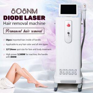 Prix inférieur 808nm Épilation au laser Machine professionnelle 808nm 810nm Diode Laser à laser Rappel de peau Rajeunissement de la peau sans douleur