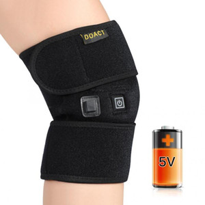Elastic Knee Brace USB Cable Electric Heating Knee Pad Therapy Arthritis Pain Relieve Support Protector Brace Band