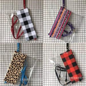 Women Leopard Shoulder PVC Totes Cosmetic Transparent Waterproof Crossbody Clear Fashion Grid Grain Handbags LLA63 73 J2