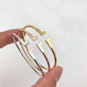 Haben Sie LOGO und Original Box Armband Marke T Designer Armbänder für Männer und der Frauen für den Eingriff Hochzeit Paare Liebhaber Geschenk Luxuxschmucksachen