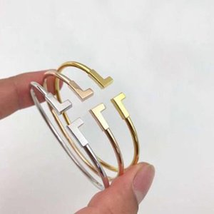 Ter o logotipo e pulseiras originais do desenhador marca caixa T pulseira para homens e mulheres para jóias de luxo amantes casais casamento engajamento presente