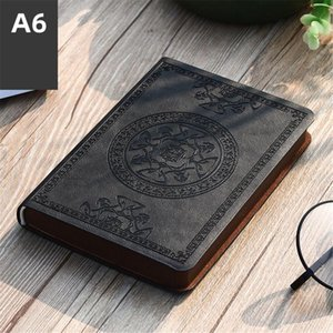 2021 New Portable Vintage Pattern PU Leather Notebook Diary Notepad Stationery Gift