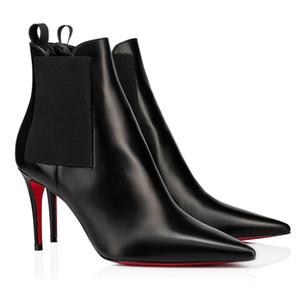 Bayan Ayakkabı Kadın Belle Boots Lüks Tasarımcı Kış Sonbahar Fabrika Toptan Alttan Ayak bileği Boot Siyah Süet Boot Moda Ayakkabı kırmızı