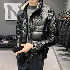 Logo Down Jacket Uomo Breve paragrafo The Glossy Feather Cappotti con cappuccio Uomo Fashion Collar Collano Attrezzatura Piumino in inverno1
