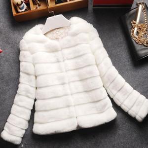 womens fur coat female new winter faux fur coat artificial jackets for women rabbit hair Leather grass plus size women