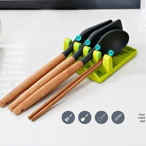 Küchengeräte-Regal-Löffelhalter-Ständer-Kunststoff-Schaufel-Schaufel-Rest für Topf-Abdeckung Besteck Spatelhalter-Rack Küchenzubehör FFE3728