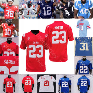 Custom Ole Miss Rebels Football Jersey NCAA College John Rhys Plumlee Matt Corral Phillips Conner Moore Drummond Eli Manning Wallace Willis