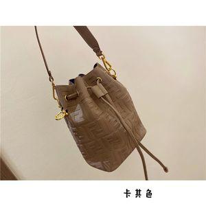 Новые поступления Luxurys дизайнеры сумка Полностью напечатанные FF Pattern Temossing Mon Tresor Drawstring Baket Bucket Bag женская кожаная сумка сумки