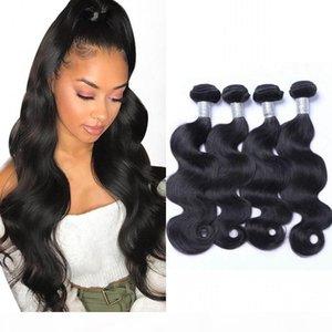 Malasia Virgin Hair Body Wave 4 Paquetes Human Hair Weave Natural Black Hair Extensions para mujeres