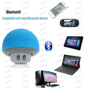 BT280 Mini Mushroom Speakers Subwoofers Bluetooth Wireless Speaker Silicone Suction Cup Cell Phone Tablet PC Stand Free DHL Shipping