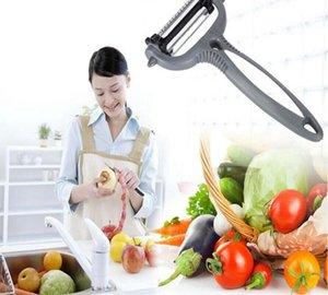 Fruit Vegetable Peeler 4 em 1 Multifuncional 360 graus Rotary lâmina vegetais fruto fatiador cortador Zesters frutas vegetais Ferramentas WY332DXP