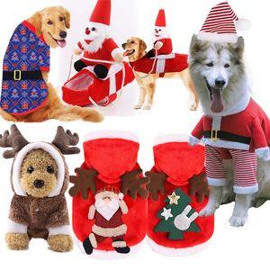 2020 Dog clothes designer dog clothes Christmas pet supplies cat cotton accessories funny autumn and winter clothes elderly elk snow