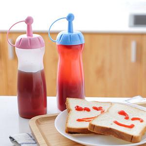 Squeeze Squirt Condiment Botellas Calificación de alimentos PP Salsa Salsa Dispensador Ketchup Cruet Soy Sauce Pot Dispenser Bottle GWD4410