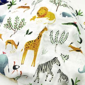 N lion newborn muslin 100% bamboo fiber baby blanket swaddles blankets bath gauze infant wrap sleepsack stroller cover play mat 201022