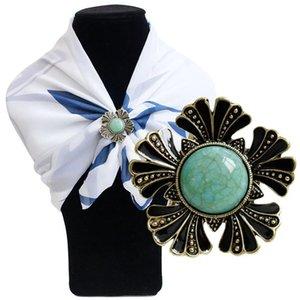 Mode Flower Broche Pins Écharpe Buckle Shirt Badge Pin de revers et Broches Cadeaux Pour Femmes Accessoires