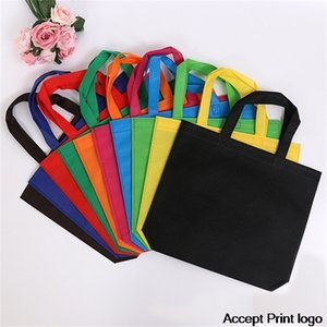 20 pieces mesh bags Shopping Eco Promotional fabric tote bag large Custom Make Printed Logo Y201224