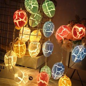 10ELÉS DÉCORATIONS PÂQUES DE PÂQUES POUR LA MAISON DE LA RABIÈRE DE LA LAPBITE À LA MAISON LED STRING DE LA LAC LANE Pâques Fairy Fairy Lights Ornement GWD4390