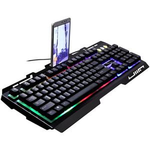 Keyboard G700 Проводной ноутбук Манипулятор Manipulator Чувствовать Металлический Световой Мобильный телефон Кронштейн Компьютерная Клавиатура Бесплатная Доставка