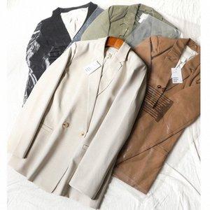 Sharezz Nouveau bureau Lady Costume travail formel poches Vestes Manteau Slim Noir Blazer femme Femme Vestes Mode Vêtements Automne 2020 OxVA #
