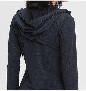 Pianura con cappuccio donna Zip up yoga giacca giacca da yoga elastica manica lunga palestra cappotto sportivo fitness vestiti sexy sottile atheltics abbigliamento yogaworld