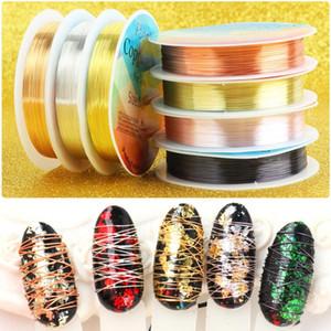 20 M / Rulo Metal Tel Hattı Süslemeleri Çiviler için Charms Çiviler Nail Art Glitter Takı Tırnak Aksesuarları DIY Manciure Slider LA1583